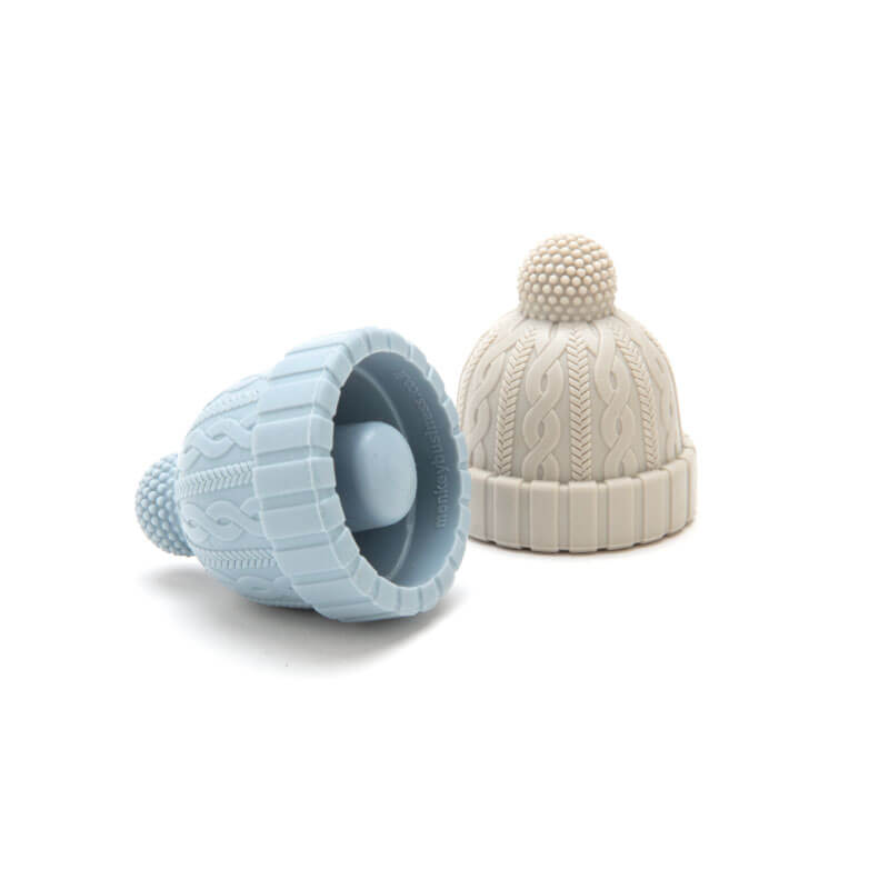 Beanie Bottle Stoppers Pack 2 - Azul/Cinza